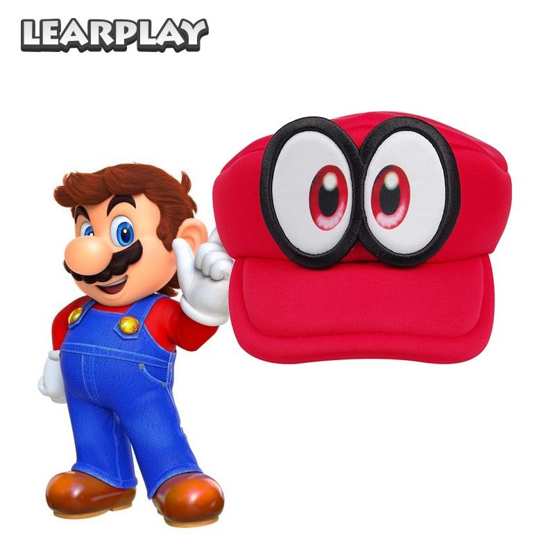 Spel Super Mario Run Cappy ögon Cosplay Hattar Superbröder Svamp - Maskeradkläder och utklädnad - Foto 2