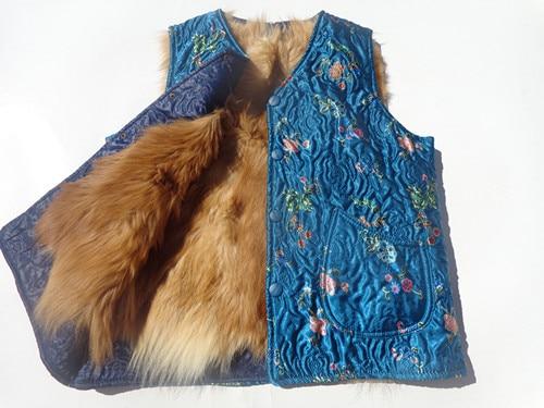 Free shipping The elderly women s genuine fur waistcoat cotton vest fur sheepskin wool vest autumn