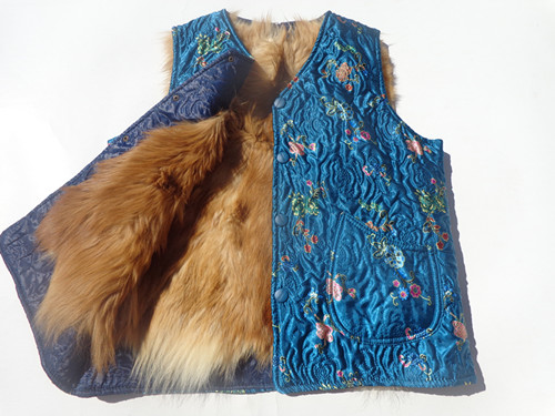 Darmowa wysyłka osób w podeszłym wieku kobiet prawdziwej skóry kamizelka futrzana bawełniana kamizelka futro kożuch kamizelka z wełny jesień i zima w Kamizelki od Odzież damska na  Grupa 1