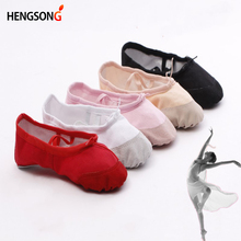 2018 New Child Ballet Pointe Dance Shoes Girls Professional Ballet Dance Shoes With Ribbons Shoes Woman Soft Dance Shoes Girls cheap hengsong Women Soft Sole Elastic band None Soft Ballet Shoes Flat (0 to 1 2 ) Square heel Canvas Medium(B M) Fits true to size take your normal size