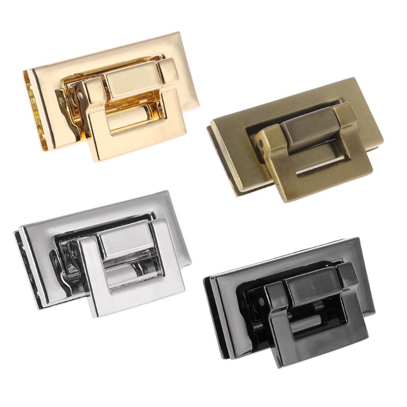 NoEnName_Null High Quality Rectangle Shape Clasp Turn Lock Twist Lock DIY Leather Handbag Bag Hardware