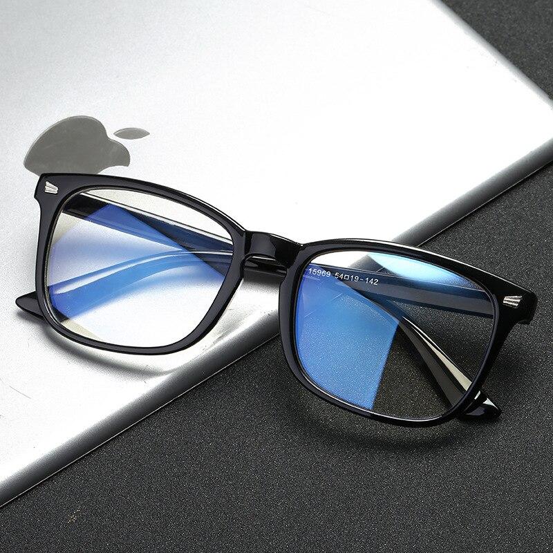 Синий светильник, блокирующие очки, женские и мужские винтажные очки, женские с рамой, большие квадратные черные мужские Оптические Компьютерные очки для чтения Мужские очки кадры      АлиЭкспресс