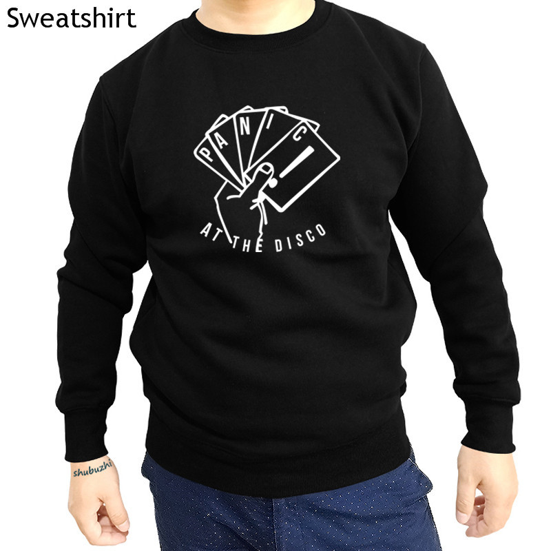 Panic at The Disco Music Novelty Black Men Women Unisex Hooded Sweatshirt Hoodie
