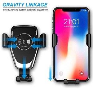 Image 2 - Support de chargeur de voiture sans fil FDGAO automatique gravité Qi pour IPhone 11 XS XR X 8 10W support de téléphone de charge rapide pour Samsung S10 S9