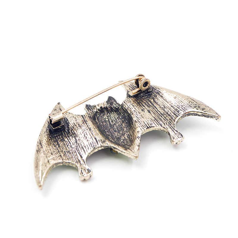 Jovem Tulip Broches Para Mulheres Jóias Pinos Para O Homem Morcego 2018 Halloween Glitter Rhinestone Partido Materiais de Alta Qualidade Da Moda
