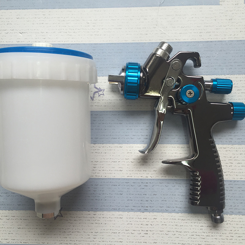 цены SAT1173 paint spray gun car painting spray gun nozzle 1.4mm air sprayer pneumatic tool