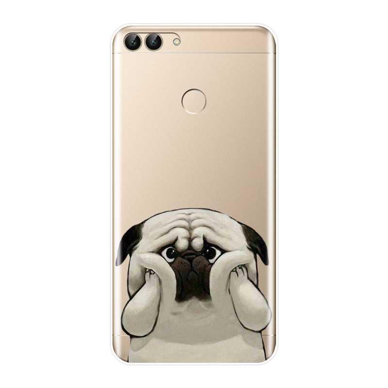 Чехол-накладка для huawei P20 Lite рro P9 P10 плюс P Smart P8 P9 Lite Mini 2017 для Мопсов, французских бульдогов щенок Мягкий силиконовый чехол для телефона
