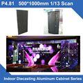 4 unids/lote P4.81 SMD de interior 500*1000mm delgada Pantalla LED de Fundición A Presión Gabinete panel de video publicidad de alquiler del hotel de la boda estadio