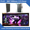4pcs/lot P4.81 SMD indoor 500*1000mm slim LED Display DieCasting Cabinet panel video rental advertising wedding hotel stadium