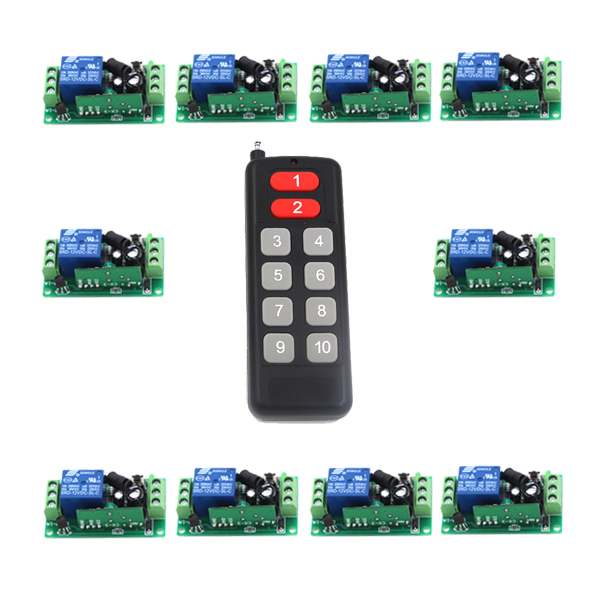 10CH/10Buttons/Key RF Wireless Remote Control/Radio Controller/Transmitter Controller for 1CH 10PCS Receiver Switch 315/433MHZ 10CH/10Buttons/Key RF Wireless Remote Control/Radio Controller/Transmitter Controller for 1CH 10PCS Receiver Switch 315/433MHZ