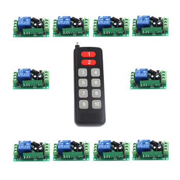 10CH/10Buttons/Key RF Wireless Remote Control/Radio Controller/Transmitter Controller for 1CH 10PCS Receiver Switch 315/433MHZ