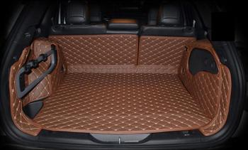 fiber leather car trunk mat for for jeep cherokee 2014 2015 2016 2017 2018 2019 car accessories