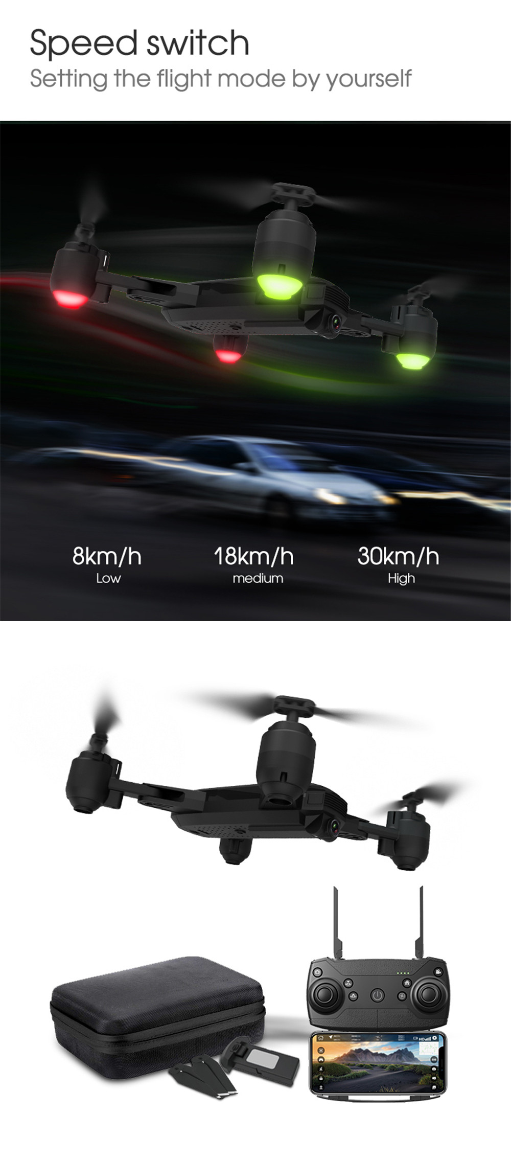 New Drone GPS 1080P HD Camera 5Ghz Follow me WIFI FPV RC Quadcopter Foldable Selfie Live Video Altitude Hold Auto Return RC Dron 11