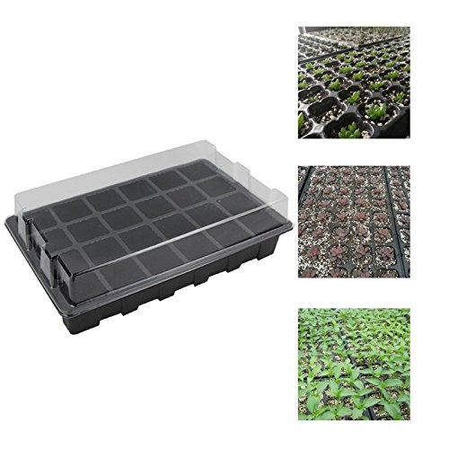 24 Holes Seedling Tray Plastic Three Piece Set Garden Plant Nursery Tray  Growing Flower Box Germination Box With Lid Propagator In Nursery Pots From  Home ...