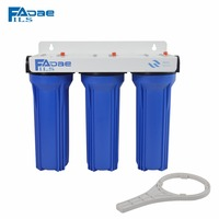 High Flow Rate 3 Stage Prefiltration Water Filter 10 PP 5micron 10 GAC Filter 10 PP