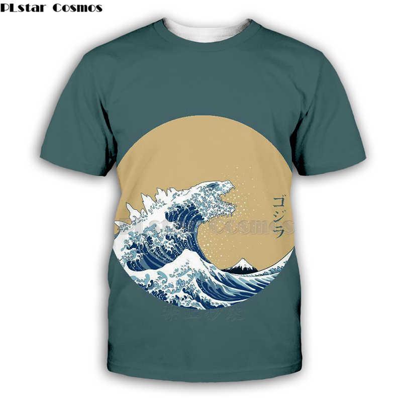 PLstar Cosmos Kanagawa Surf WAVE พิมพ์ T เสื้อ 2019 ผู้หญิงฤดูหนาว Man สะโพก Hop เสื้อลำลอง Streetwear-10