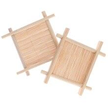 Деревянный Мыльница, держатель из натурального бамбука, мыльница, Деревянный Мыльница для хранения, тарелка, коробка, контейнер для ванной, душевая тарелка, ванная комната