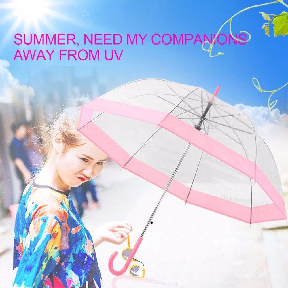 Plastic EVA Transparent Umbrella Lovely Princess Umbrella Rain Parasol  Umbrella girl Semi-automatic Umbrellas Clear Paraguas - us190 71d6085a7dcb