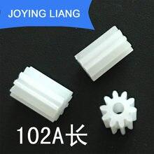 102A 0.5 m Longo Dente Da Engrenagem Do Motor de Plástico Engrenagem Modulus 0.5 10 Montagem Acessórios Do Brinquedo 10 pçs/lote