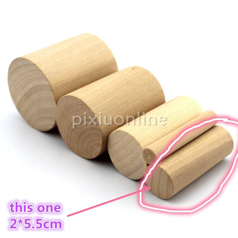 5pcs J560b Smooth Cylindrical Pine Wooden Block Wood Cylinder 2*5.5cm Deal Stick DIY Model Ship House Children Use Korea