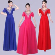 Formal Women Evening Dresses Long Blue Red Made in China Dentelle Lebanon Fare Prices Mother of Bride With Sleeves Prices A50