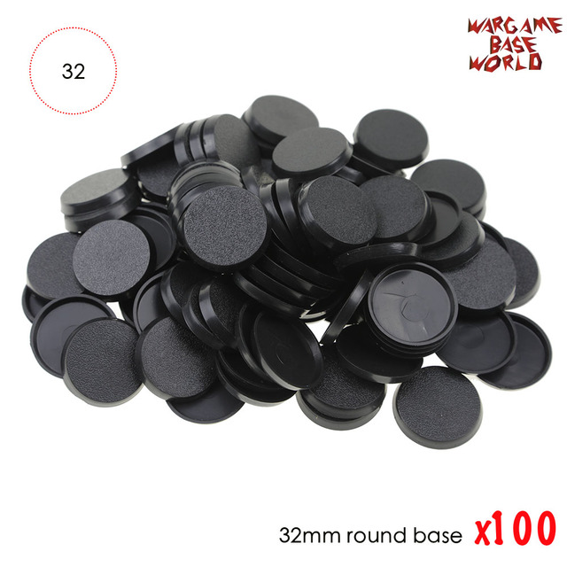 32mm bases De Plástico jogos de mesa 100 pcs bases modelo 32 milímetros bases redondas