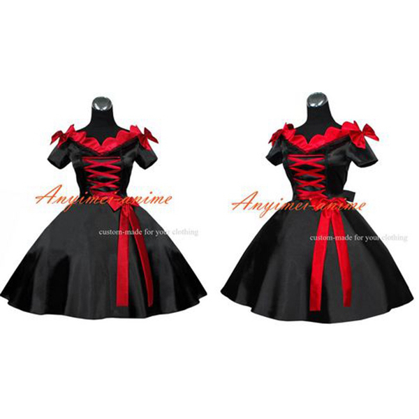 Sissy Maid Gothic Lolita Punk Ball Gown Dress Cosplay Costume Tailor made[G421]
