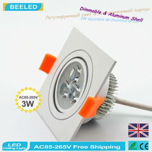 Dimmable dimmer led bulb 3W square LED Downight 10PCS/lot Indoor Lamp Christmas lights ceiling white Lighting new year