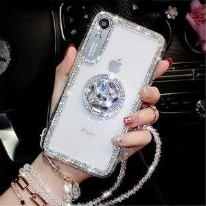 Шикарные чехлы для телефонов с кристаллами и бриллиантами для Huawei P30 P30 Pro P30 lite чехлы со стразами для Huawei Honor 9 10 lite fundas