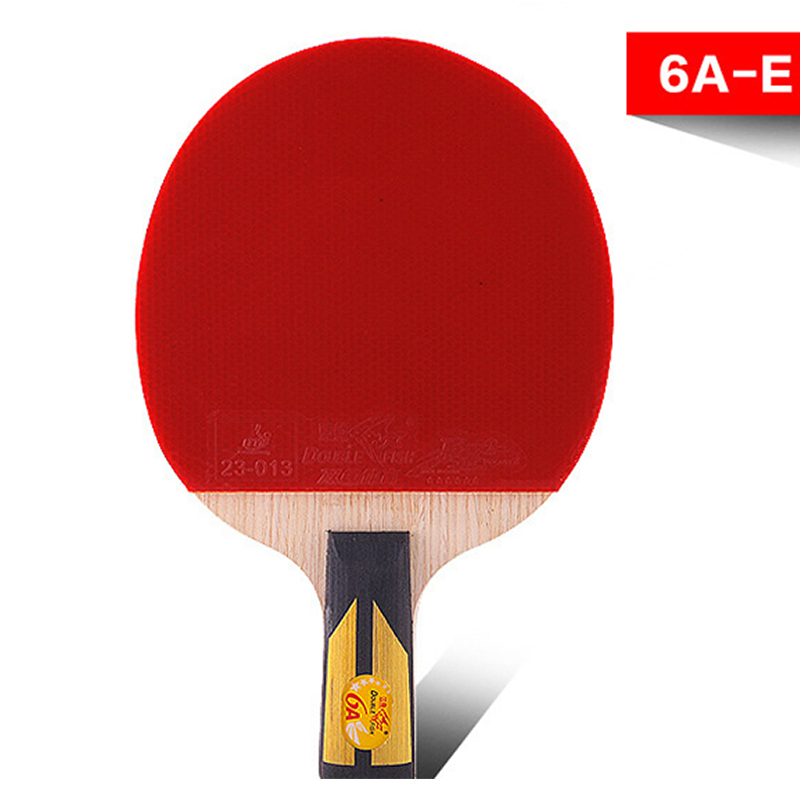 sporting goods genuine double fish six-star Straight Grip table tennis racket double face reverse glue 6A-E ping-pong bats