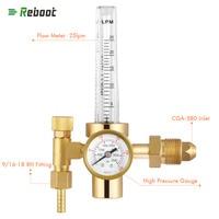 Reboot Argon Flow meter Welding Regulator Gas Valves Copper Welding Accessory TIG Weld