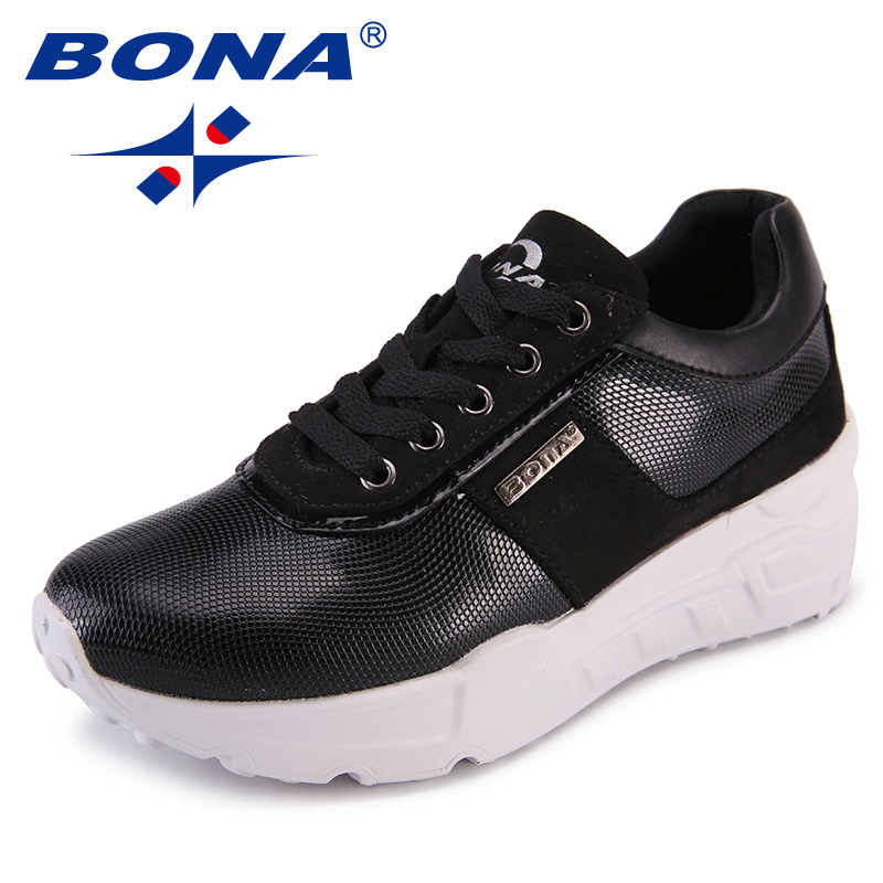 BONA New Arrival Classics Style Women Flats Outdoor Sneakers Shoes Lace Up Women Casual Shoes Flat