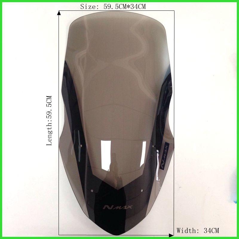 Модифицированный мотоцикл лобовое стекло лобовое стекло коричневый ветер Дефлекторы протектор для YAMAHA 2016 NMAX155 ПТАХ 155