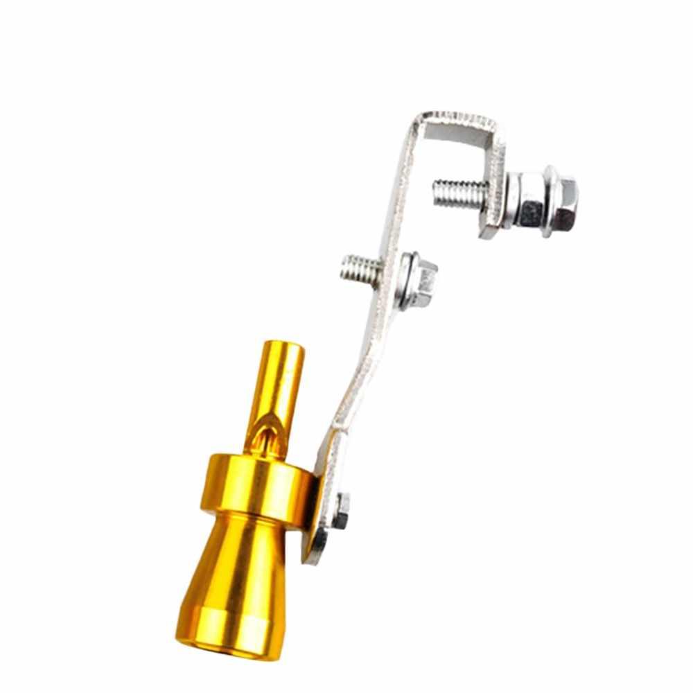 2019 новый автомобиль Серебряный клапан сброса избыточного давления, турбо звуковой свисток симулятор трубы универсальный глушитель выхлопной трубы # YL6 # YL1
