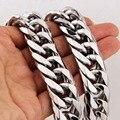 13/16/19/21mm legal pesado 316l aço inoxidável prata cubana curb link corrente masculino colar ou pulseira 7