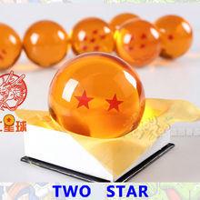 20 шт./лот Dragon ball Z звезда, кристаллический шар 1-7 звезд смешанный большой размер в 7 см в цветной упаковке оптом