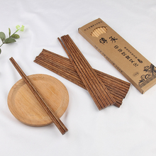 цены 050 Kitchen 10pairs Tableware Length 25cm Reusable Chopsticks Dishware wood  Household Chinese chopstick 25*1cm