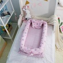 Купить с кэшбэком Baby Nest Bed, Baby Bassinet for Bed, Newborn Infant Co-Sleeping Portable Cribs & Cradles Lounger Cushion