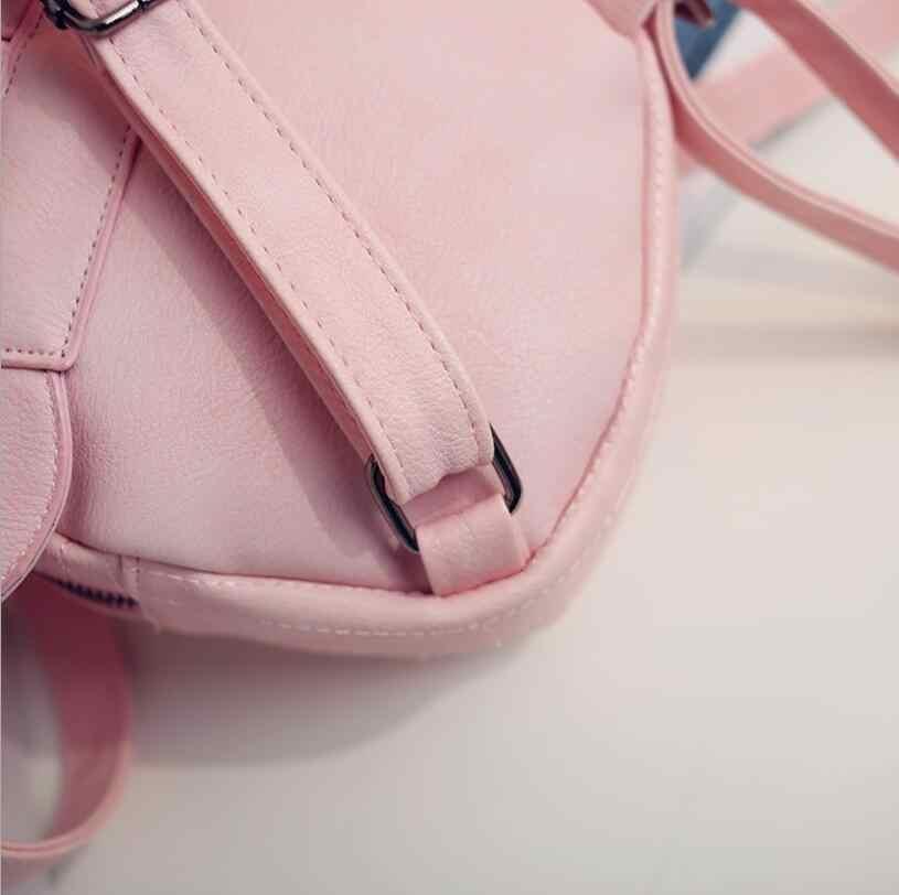 ... mini bag travel cute bag with Mickey ears fashion Female leather  backpack women small backpacks school ... 1e842d6448c1c