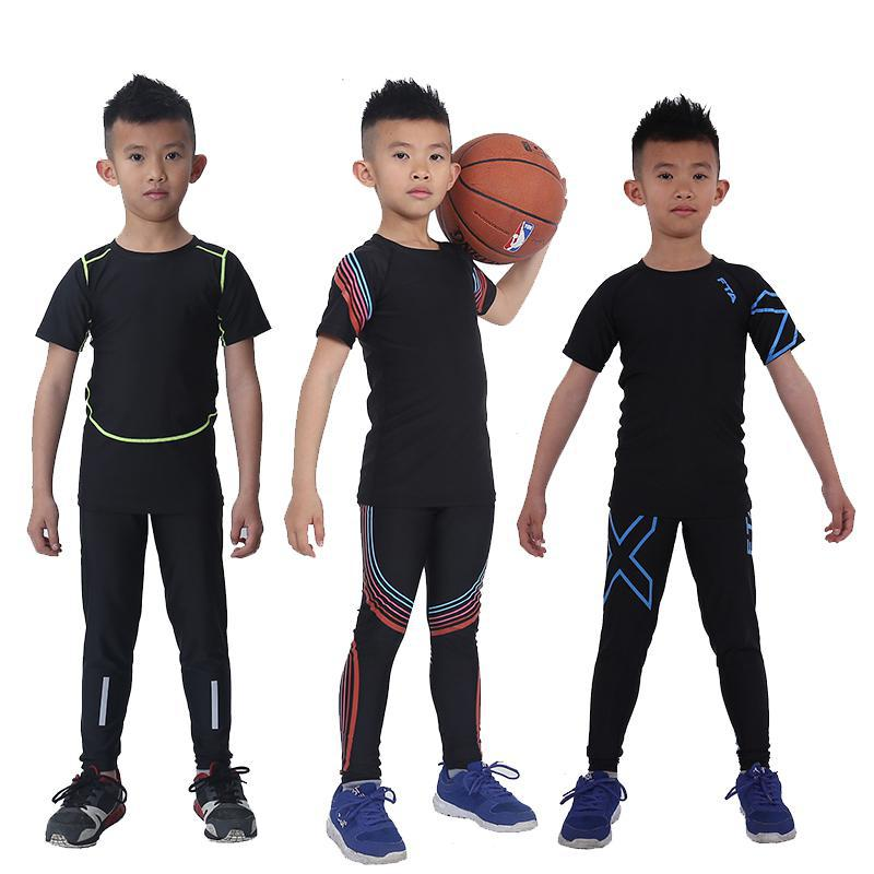 825da99be 2 pcs KIDS Sport Suits Quick Dry Basketball Soccer Training Tracksuits child  Fitness Gym Clothing Running Sets-in Running Sets from Sports &  Entertainment ...
