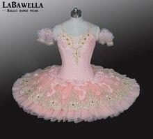 Sugar Plum Fairy Professionel Pandekage Tutu Fersken Pink Kvinder Blomst Voksen Pige Ballerina Platter Præstation Tutu Kostume BT9028