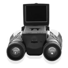 Buy online Full HD 1080P Digital Camera 2.0″ LCD 12×32 HD Black Binoculars Telescope Folding with Built-in Digital Camera
