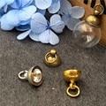 50 шт 8 мм бронза/серебро/золото цвет выбрать крышка кулон разъем для стеклянная крышка флакона DIY