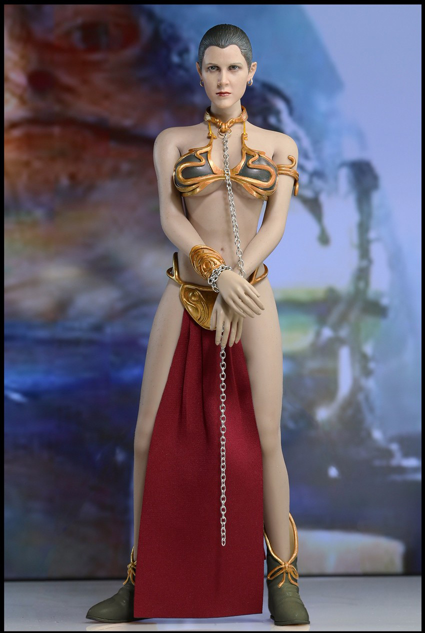 1/6 Scale Star Wars Slave Princess Leia Dress Suit & Head Sculpt Accessories for 12 inches Action Figure 1 6 scale the game of death bruce lee head sculpt and kungfu clothes for 12 inches figures bodies