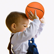 Baby Toys Basketball Sport Indoor Outdoor Kid Toys Outdoor Fun & Sports PU Materials High Quality 6Inch 15cm Basketball Chlidren