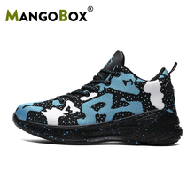 Super Cool Basketball Shoes Men Popular Knitting Boys High Ankles Sneakers Summer Original Kids Outdoor Shoe