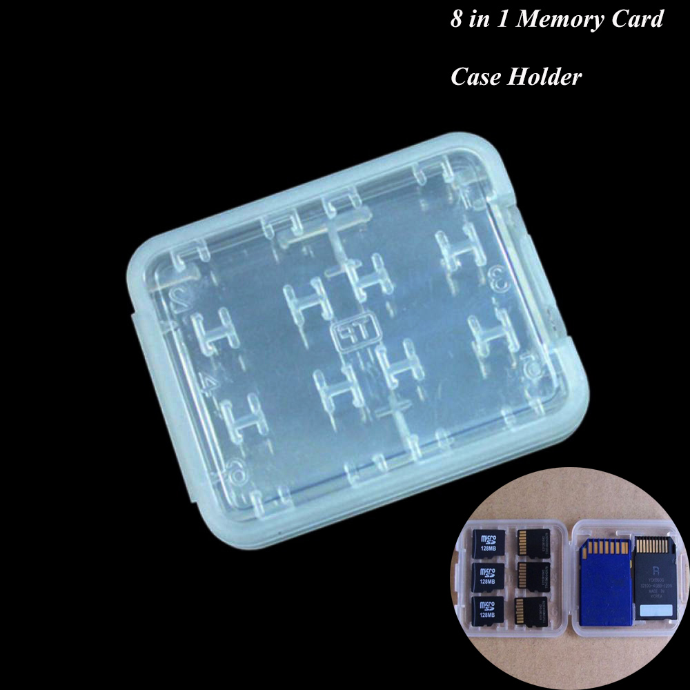 Hot Sale 8 in 1 Memory Card Storage Box SD SDHC Case TF Card Holder Box Case Protector Card Holder Free Shipping