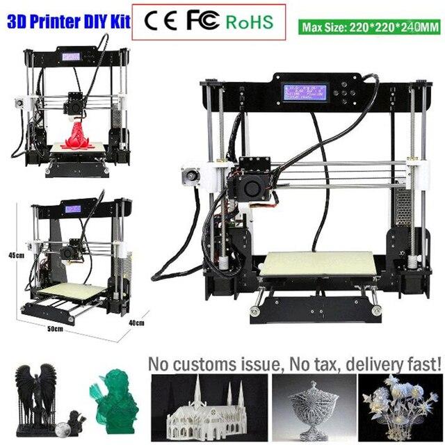 2018 Cheap W5/i3 High Precision Reprap Prusa i3 DIY 3D Printer Kit