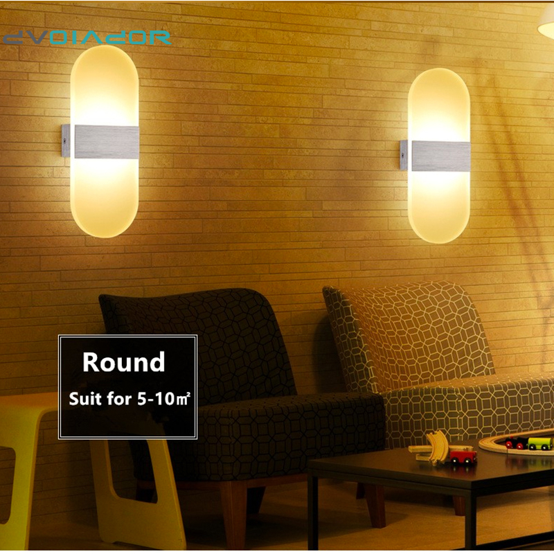 Lighting Basement Washroom Stairs: DVOLADOR Round 6W 12W Led Wall Light UP&Down AC220V LED
