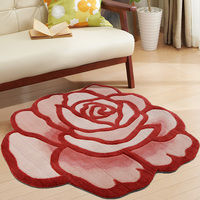 Fashion Pastoral style Handmade Embroidery 3D Rose Carpet Floral Non Slip Mat Abstract Roses Shape Rug carpets for living room